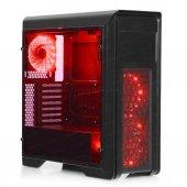 Dark N10 Pro 500w 80+ Bronze 3x12cm Kırmızı Fanlı, Fan Kontrolcülü, Cam Yan Panelli, Usb 3.0 Bilgisayar Kasası (Dkchn10pror500br)