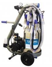 Tulsan Tempo Çift İnek Süt Sağım Sağma Makinesi Alüminyum Güğüm 40 Lt