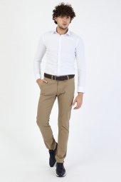 CORRANO Erkek Slim Fit Smart Chino Pantolon bej renk-2