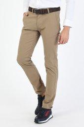 CORRANO Erkek Slim Fit Smart Chino Pantolon bej renk-3