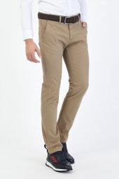 CORRANO Erkek Slim Fit Smart Chino Pantolon bej renk-4