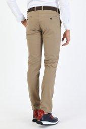 CORRANO Erkek Slim Fit Smart Chino Pantolon bej renk-5