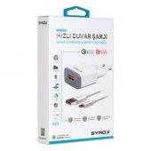 Syrox 2 Amper Hızlı Micro Usb Şarj Aleti Q20