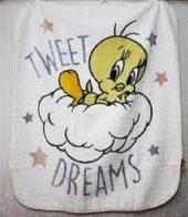 Özdilek Bebek Battaniyesi Tweety Star Lisanslı
