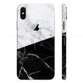 iPhone 7 Plus Kılıf Mermer Desenli Sticker 3M Kaplama Arka Yan -11