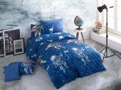 Nevresim Takımı Cotton Touch Ranforce Pamuklu Tek Kişilik Astro Blue