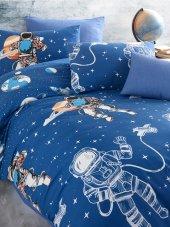 Nevresim Takımı - Cotton Touch Ranforce Pamuklu Tek Kişilik - Astro Blue-3