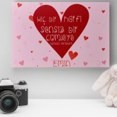 Kişiye Özel Romantik Tasarımlı Mini Kanvas 4