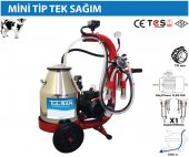 Tulsan Mini Tip Tek Sağım Kuru Tip Paslanmaz Güğüm Süt Sağma 30 Lt-2