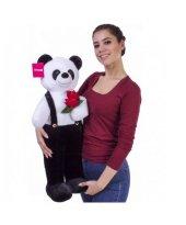 Tulumlu Çiçekli Panda 80 Cm