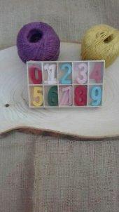 Eğitici Renkli Ahşap Sayılar