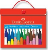 Faber Castell Plastik Çantalı Tutuculu Pastel Boya 24 Renk