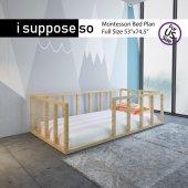 Montessori Çocuk Yatak Doğal Çam Ağacı Yatak...