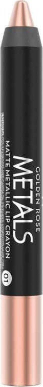 Golden Rose Metals Matte Metallic Lip Crayon No 01