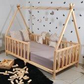 Markaawm Montessori Çocuk Yatak Doğal Çam...