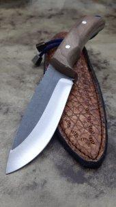 Bushcraft El Yapımı Bıçağı Ceviz Kabze