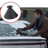 araba sihirli cam araba buz kazıyıcı şekilli huni kar temizleyici