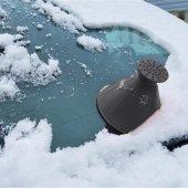 araba sihirli cam araba buz kazıyıcı şekilli huni kar temizleyici-2