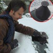 araba sihirli cam araba buz kazıyıcı şekilli huni kar temizleyici-4