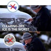 araba sihirli cam araba buz kazıyıcı şekilli huni kar temizleyici-5
