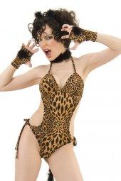 Fantezi Leopar Kız Kostümü