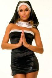 Seksi Fantezi Rahibe Kostümü