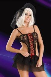 Fantezi Gotik Gelin Kostüm