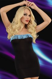 Siyah Süper Mini Elbise