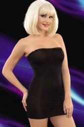 Transparan Siyah Mini Elbise