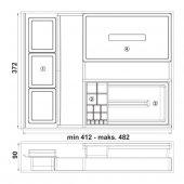 Hafele Çekmece İçi Düzenleyici Kutu Organizer - 550.04.311-4