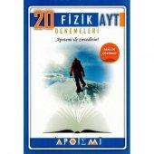 AYT Fizik Tamamı Çözümlü 20 li Denemeleri Apotemi Yayınları
