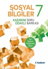 7.Sınıf Sosyal Bilgiler Kazanım Odaklı Soru Bankası Tudem Yayınla