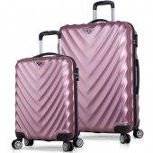 My Valice Lotus Abs 2li Valiz Seti (Kabin Ve Büyük) Rose