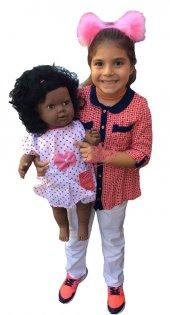 Oyuncak Bebek Zenci Saçlı Et Bebek 60 Cm
