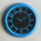 Galaxy 1963 P Premium Kabartma Rakamlı Duvar Saati Mavi