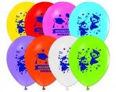 Balon Baskılı 12 İnc 1+1 Çocuk Mezuniyet Pk 100 Adet
