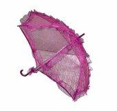 şemsiye Dantel İşlemeli Fuşya Pk 1 Adet