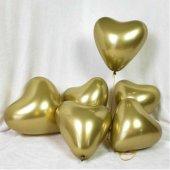 Balon Krom Parlak (Mırror) 16 İnc Kalp Altın Pk 50 Adet