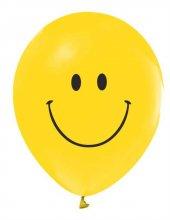 Balon Baskılı 12 İnc 1+1 Gülen Yüz Pk 16 Adet
