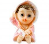 Bebek Bornozlu Magnet Pembe Pk 1 Adet