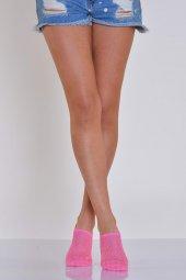 ıdilfashion Kadın File Desen Babet Çorabı Fuşya B Art058 (3