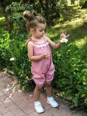 Bebek Şortlu Tulum Paçası Lastikli Yazlık Tulum