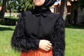Kozoil Kol Detaylı Bluz | Siyah