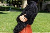 Kozoil Kol Detaylı Bluz | Siyah-2