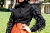 Kozoil Kol Detaylı Bluz | Siyah-3
