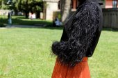 Kozoil Kol Detaylı Bluz | Siyah-4