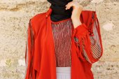 Kozoil Kol Detaylı Bluz | Turuncu-4