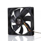 Tx 12cm Siyah Sessiz Kasa Fanı (3pin+molex) (Txccf12bk)