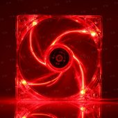 Tx 12cm Kırmızı Sessiz Kasa Fanı (Txccf12rd)