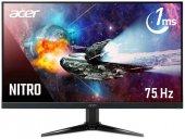 21.5 Acer Nıtro Qg221qbii Fhd Va Led Freesync 1ms 75hz 250nits (Vga, 2xhdmı) Vesa Siyah Çerçeve